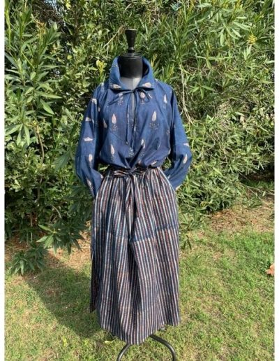 """Robe droite """"indiennes""""   Made in France   Dou Bochi   Malegal"""
