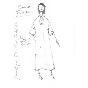 Robe droite avec poches | Made in France | Dou Bochi | Furane