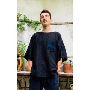  T-shirt en lin   Voile de lin   Made in France   Dou Bochi  Predicadou 