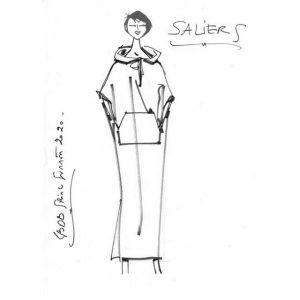 Robe djellaba en lin | Made in France | Dou Bochi | Saliers