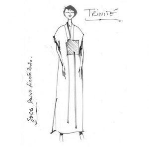 Robe droite longue en lin | Made in France | Dou Bochi | Trinité