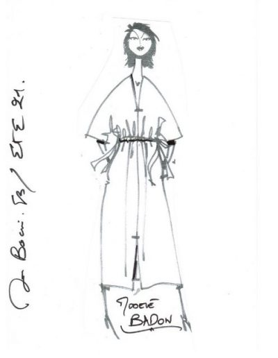 Robe taille coulissee| Made in France | Dou Bochi | Badon
