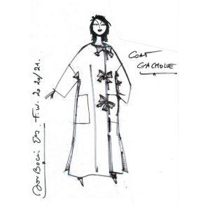 Manteau Lin-Coton|droit|Made in France|Dou Bochi|Gachole Titre du site Titre Séparateur
