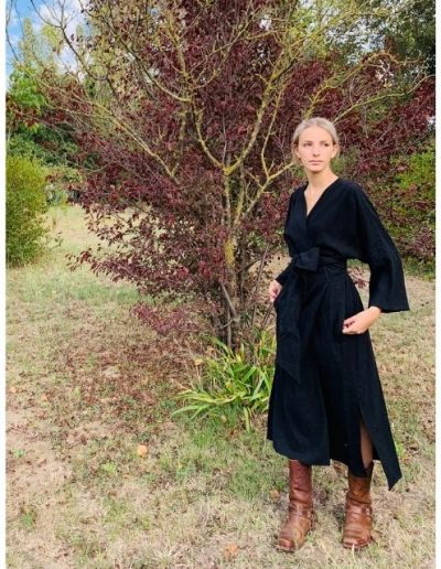 sylvereal-robe-laine-lin-noir-made-in-france