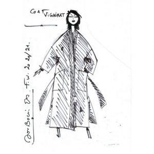 Manteau Kimono|Made in France|Dou Bochi|Vigueirat