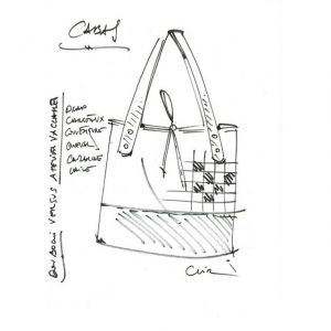 SAC CABAS|Cuir&Tissus|Made in France|Dou Bochi vs Atelier Vaccares