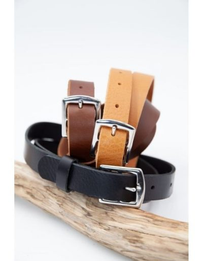 Ceinture Cuir|Black|Made in France|Atelier Vaccares vs Dou Bochi
