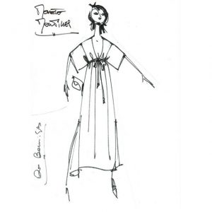 Robe décoleté |Soie rouge|Made in france|Dou Bochi-Eric Bergère|Montilles|