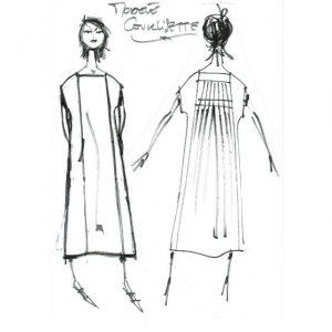 |Courlisette Robe Housse panneaux plissés| Made in France | Dou Bochi|